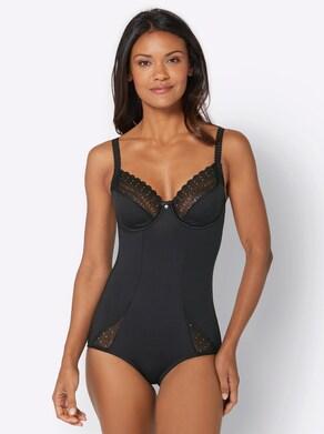 Body mit Bügel - schwarz