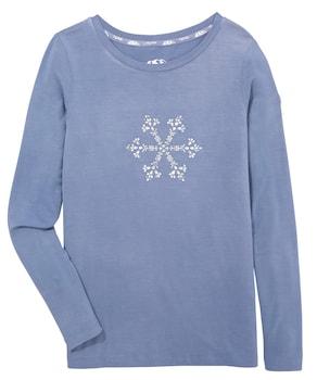 Piz Palü Traditioneel shirt - lichtblauw