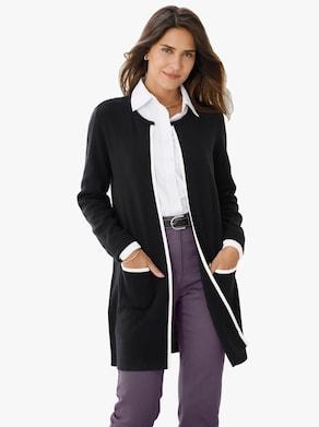 Pletený sveter - čierna