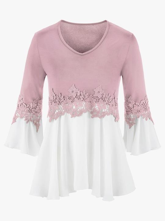 Fair Lady Shirt - mauve-weiß