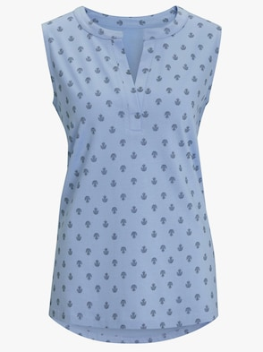 Shirttop - eisblau