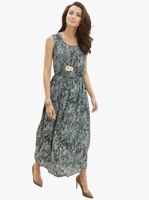 Kleid - khaki-gemustert