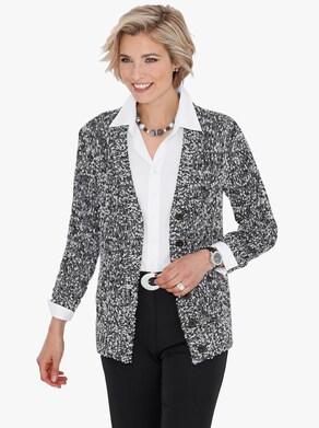 Pletený kabátek - černá-bílá