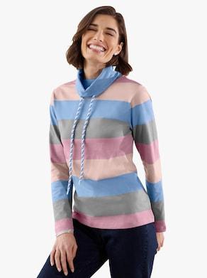 Sweatshirt - hemelsblauw gestreept