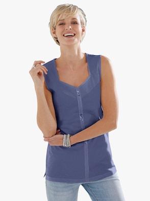 Shirttop - jeansblau