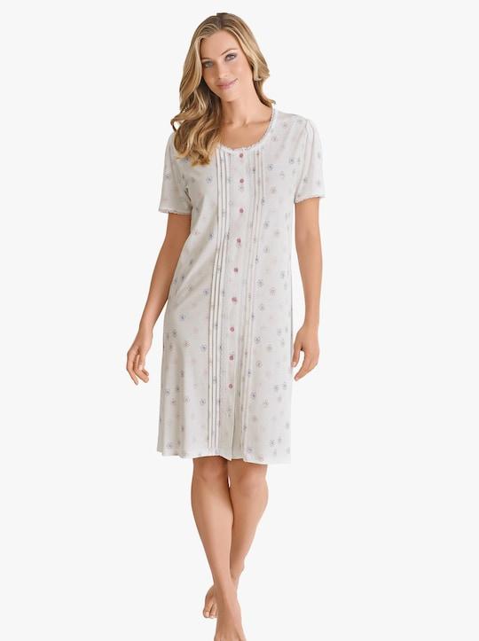 wäschepur Nachthemd - ecru geprint