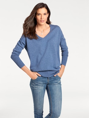 Best Connections V-Pullover - blau
