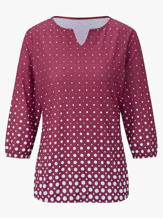 Shirt - bordeaux-bedruckt