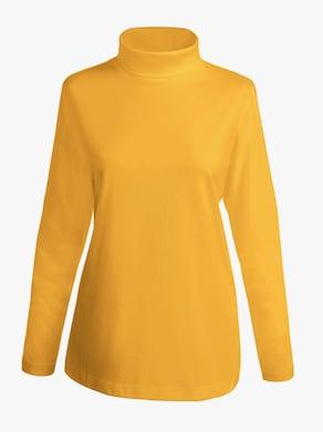 Tričko s rolákovým límcem - okrová