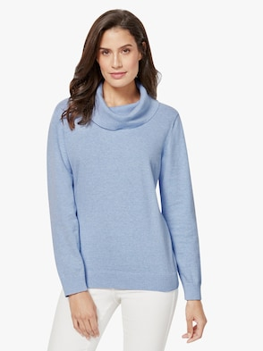 Pullover - hellblau-meliert