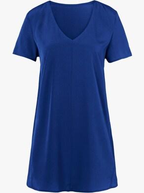 Longline blouse - koningsblauw