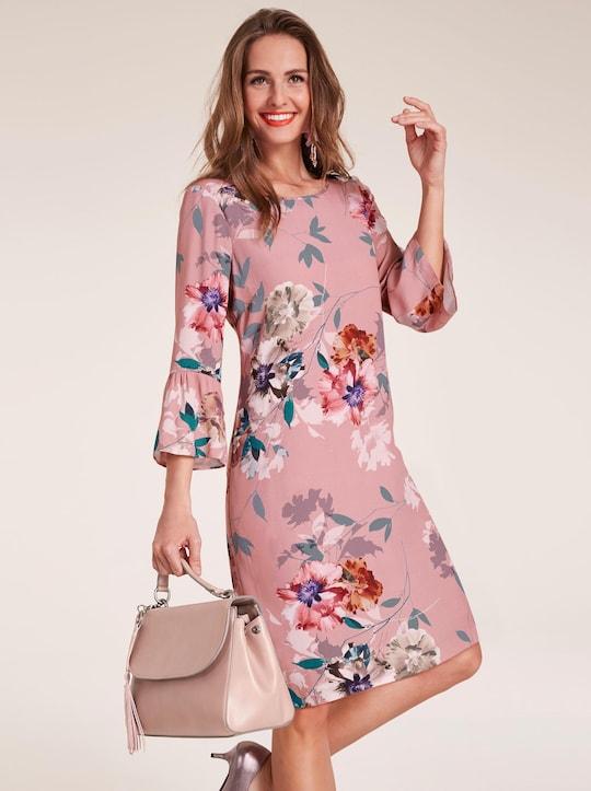 Kleid - rosé-bedruckt