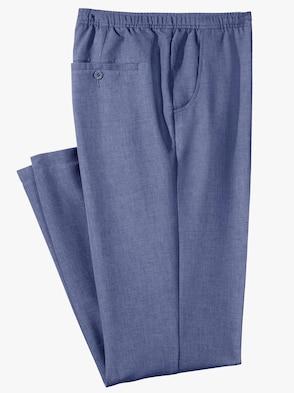 comfortbroek - blauw gemêleerd