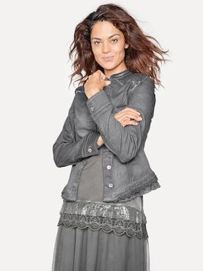 Linea Tesini Jeans-Jacke - graphit