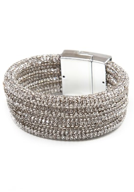 COLLEZIONE ALESSANDRO Armband - silberfarben-weiß