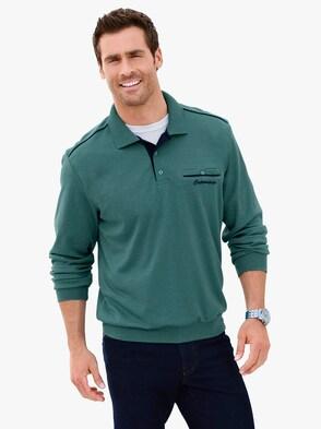 Sweatshirt - smaragdgroen