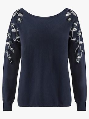 Fair Lady Pullover - nachtblau