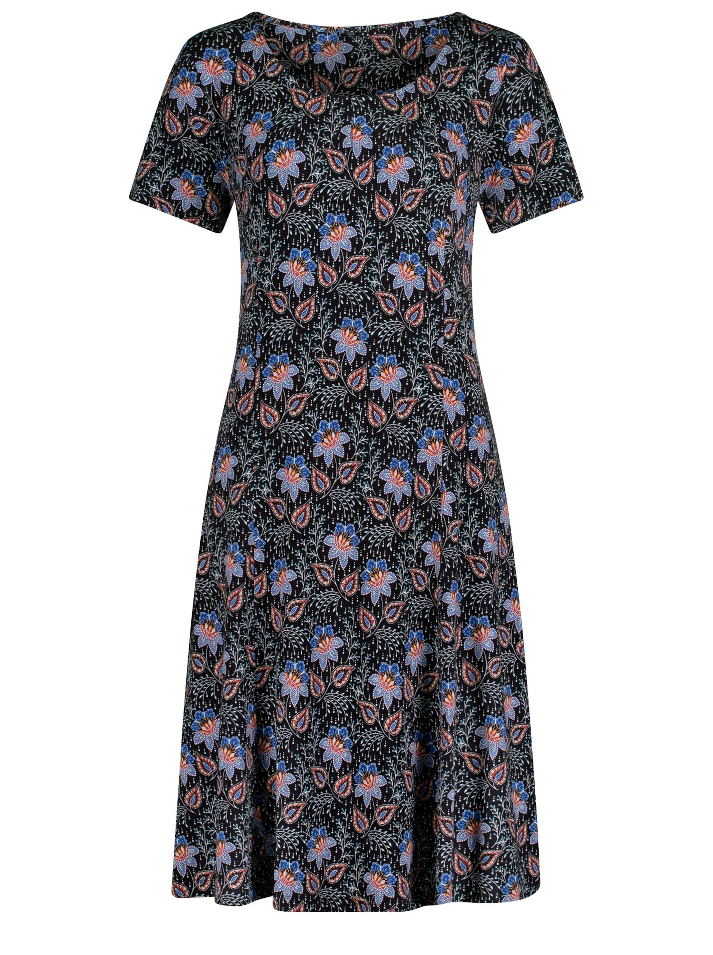 witt weiden -  Damen Jersey-Kleid schwarz-bedruckt