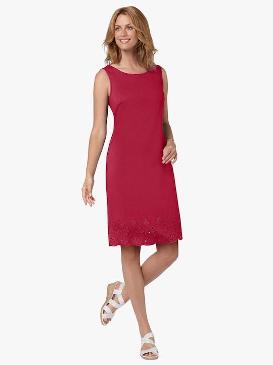Trikåklänning - röd