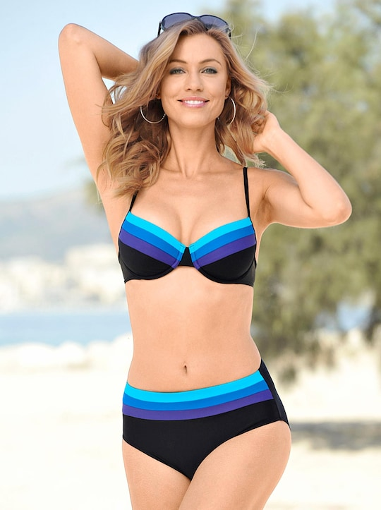 feel good Bikini - schwarz-blau