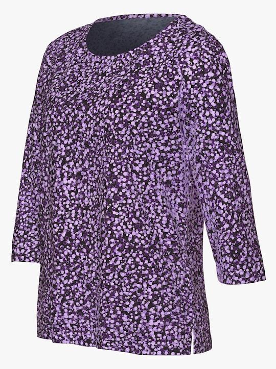 Shirt - paars gedessineerd