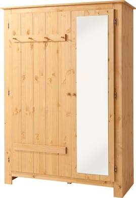 Home affaire Garderobenschrank - natur/geölt