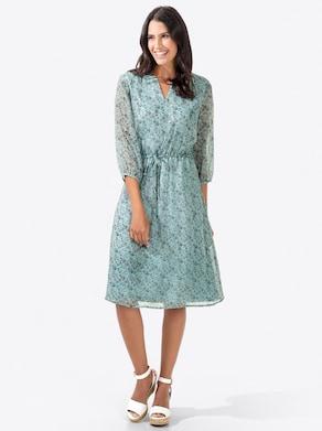 Kleid - kalkmint-bedruckt