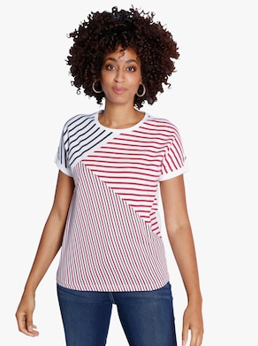Tričko - červená-námořnická-potisk