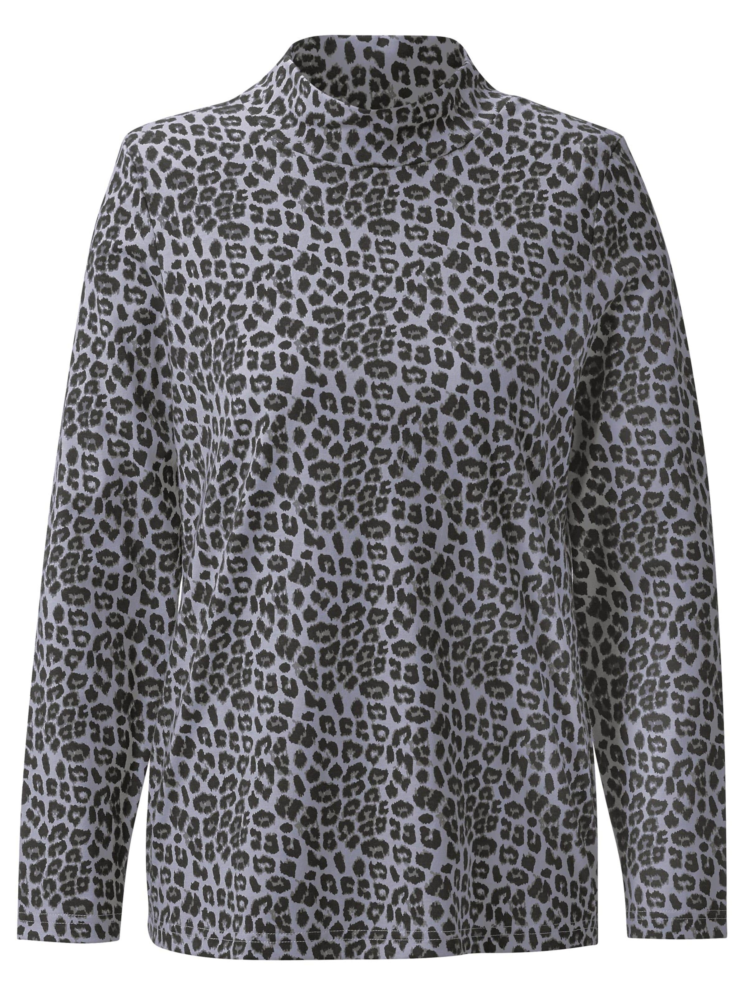 witt weiden -  Damen Shirt steingrau-bedruckt