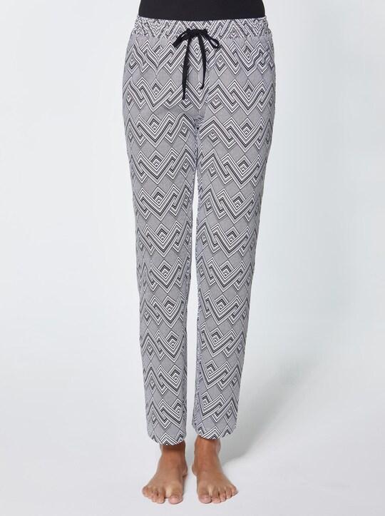 Josef Seibel Schlafanzug-Hose - schwarz-weiß