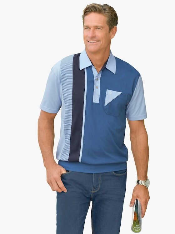 Hajo Kurzarm-Poloshirt - blau