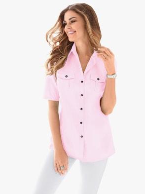 Skjortblus - ljusrosa