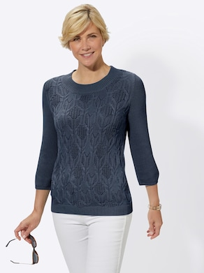 Collection L Pullover - dunkelblau