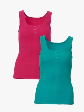 Achseltop - pink + smaragd