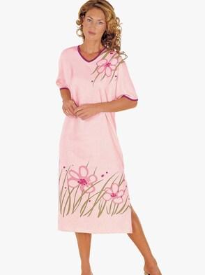 Nočná košeľa - Ružové s potlačou