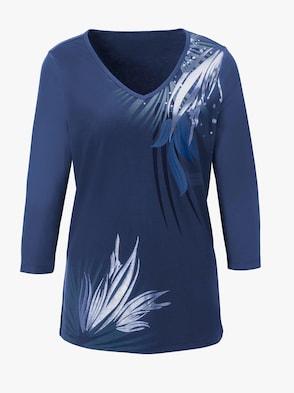 Shirt - koningsblauw bedrukt