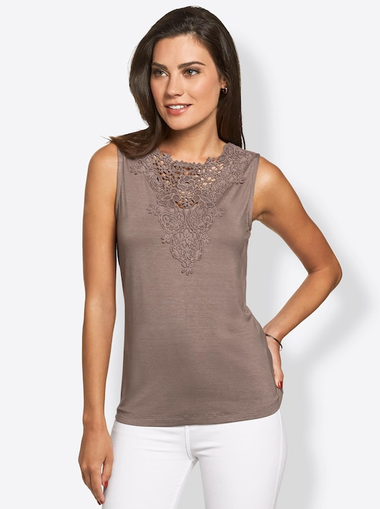 Fair Lady Shirttop - taupe