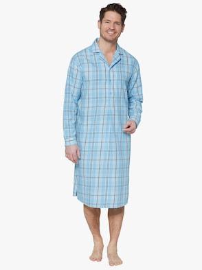 Nachthemd - blau-kariert