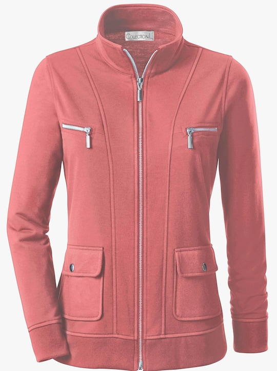 Collection L Shirtjacke - lachsrot