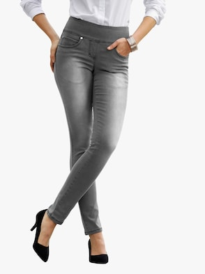 Jeans - grey-denim