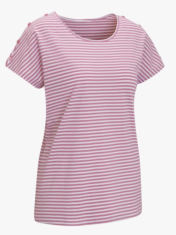 Shirt - oudroze gestreept