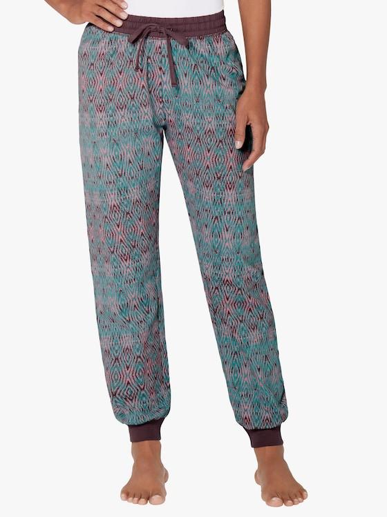Schlafanzug-Hose - smaragd-rosé