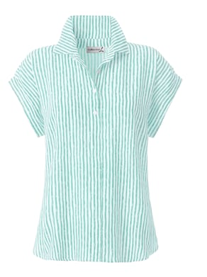 Collection L Bluse - mint-gestreift