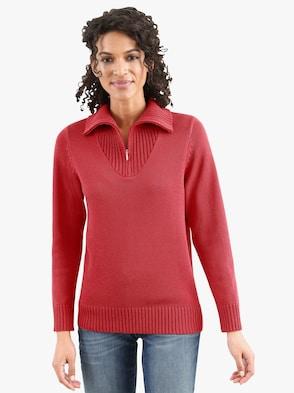 Pullover - korallenrot