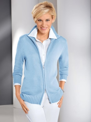 Collection L Strickjacke - eisblau