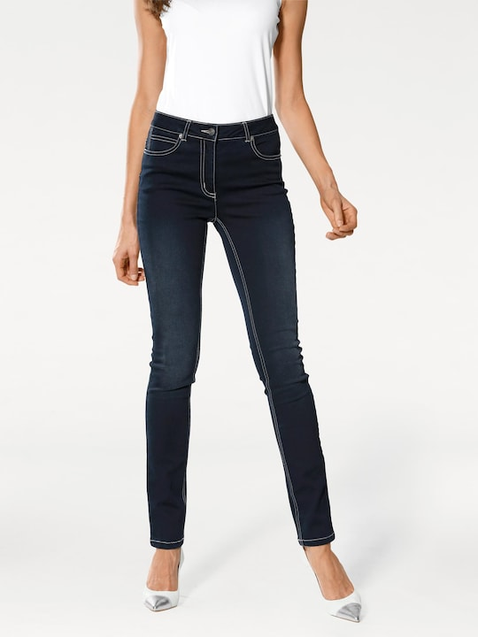 Linea Tesini Bauchweg-Jeans - dark used