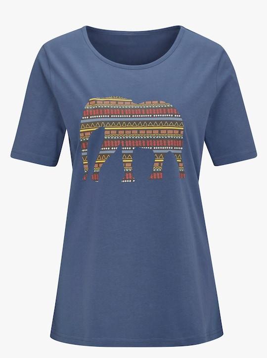 Shirt - jeansblauw