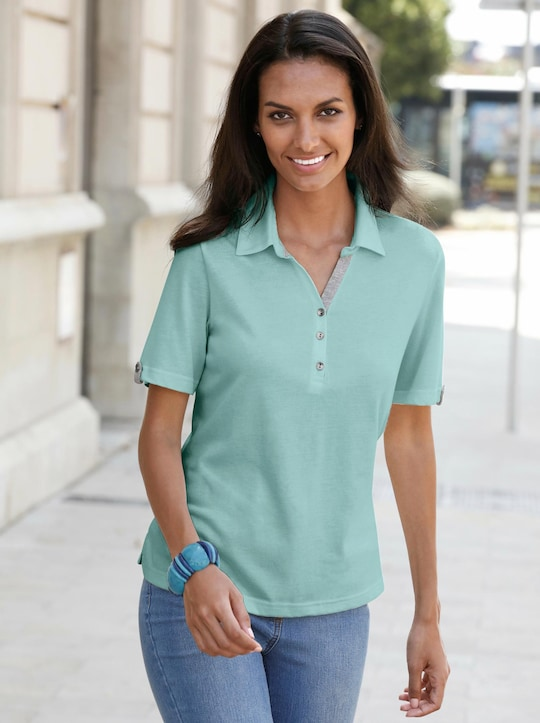 Collection L Poloshirt - aqua