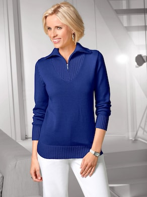 Collection L Pullover - royalblau