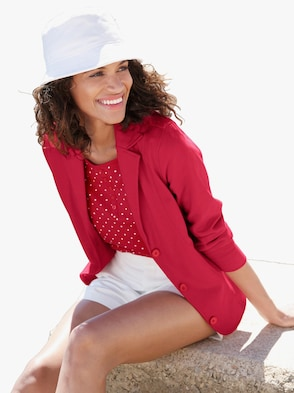 Jersey blazer - rood